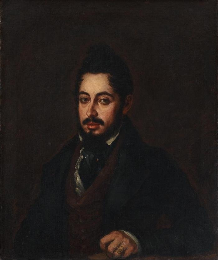 Retrato de Mariano José de Larra, por José Gutiérrez de la Vega. (DP)