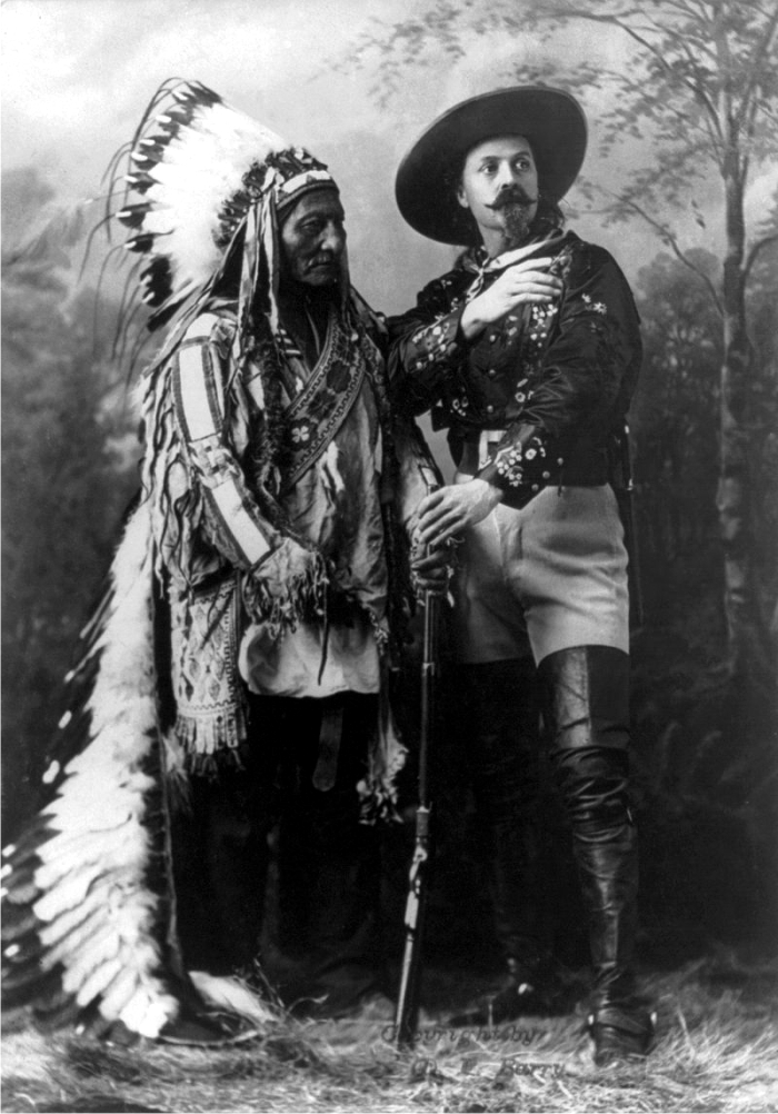 Toro Sentado con Buffalo Bill. Foto: DP.
