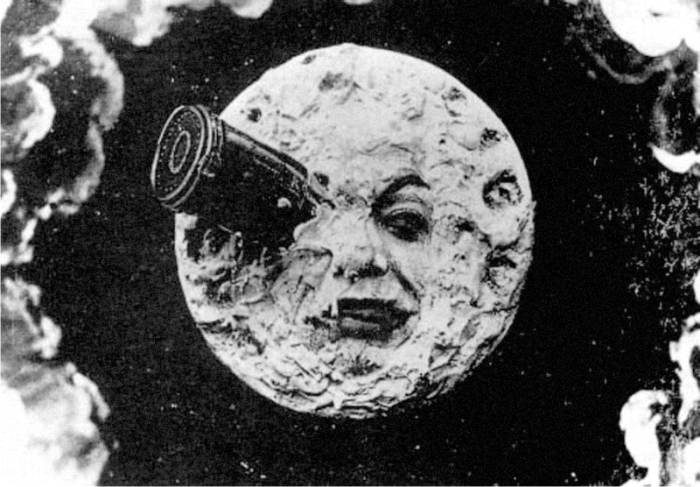 Escena de Viaje a la Luna. Imagen : Star Film.