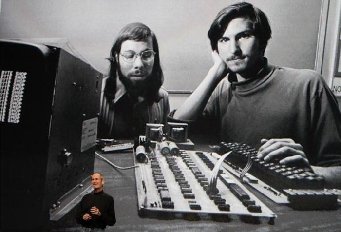 Jobs hablando de Jobs y los ordenadores. Foto: Getty Images.