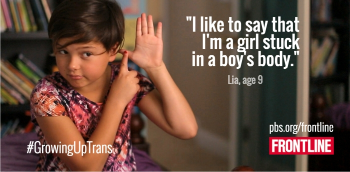 Growing up trans. Imagen: PBS/Canal+.