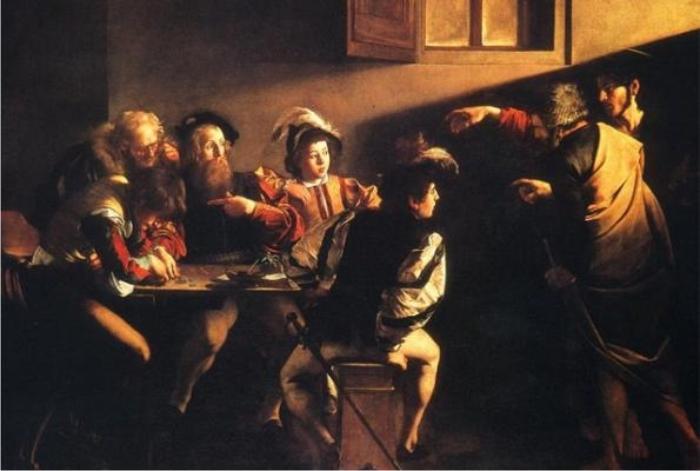 La vocación de San Mateo, de Caravaggio o Scorsese en el siglo XVII.