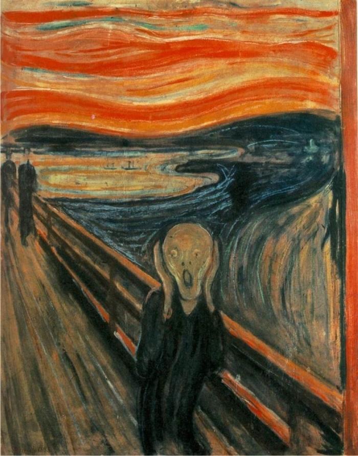 Una de las versiones de El grito, de Evard Munch.