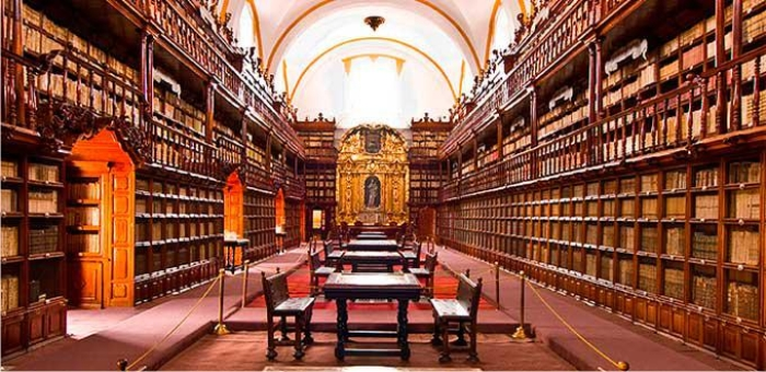 Imagen de la Biblioteca Palafoxiana. Puebla, México.