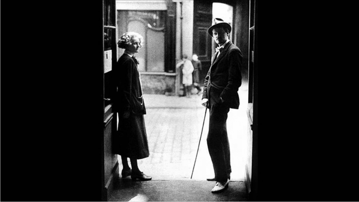 James Joyce con Sylvia Beach. Foto: DP.