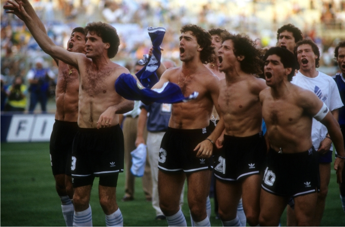 La selección Argentina celebra el título del Mundial Italia 90. Foto :Cordon Press.