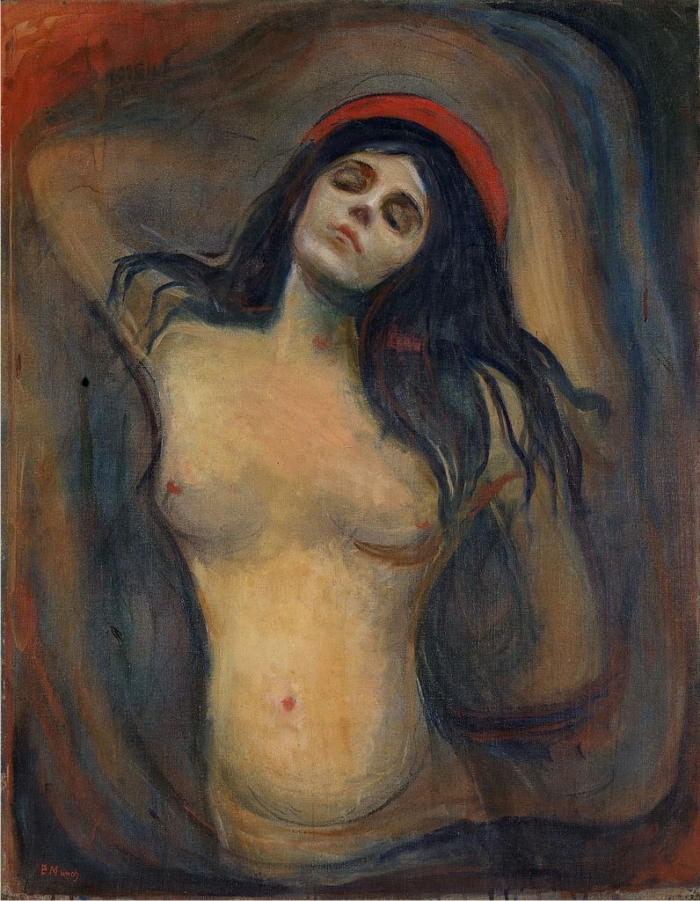 Una de las versiones de la Madonna, de Evard Munch.