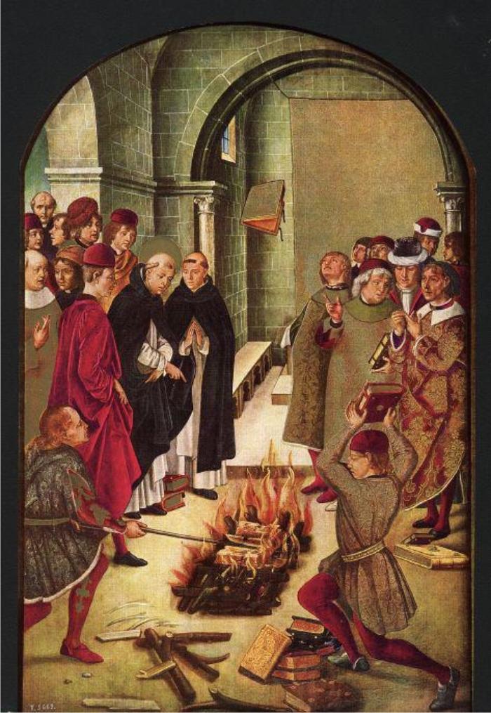 Santo Domingo y los albigenses, de Pedro de Berruguete.