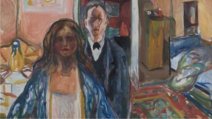 El artista y la modelo, de Edvard Munch.