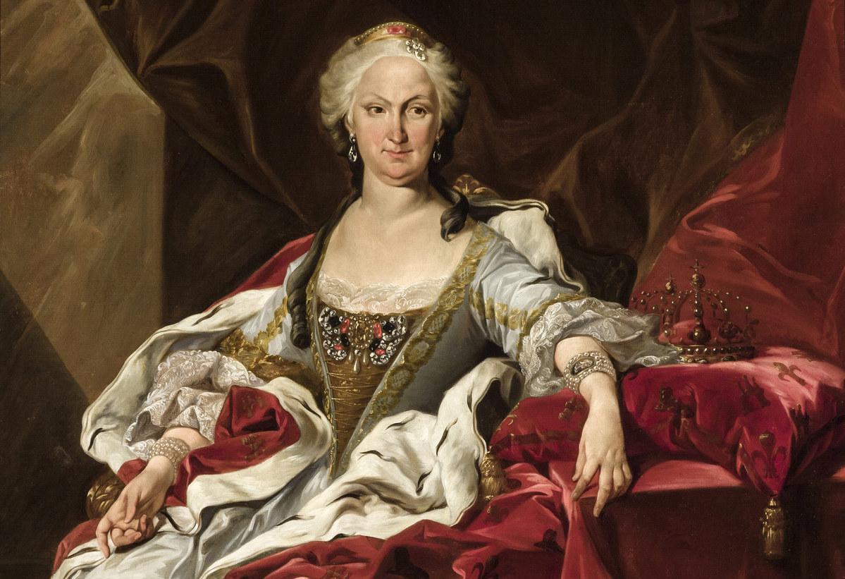 Copia del retrato de Isabel de Farnesio pintado Louis Michel Van Loo en 1739. Imagen: (DP).
