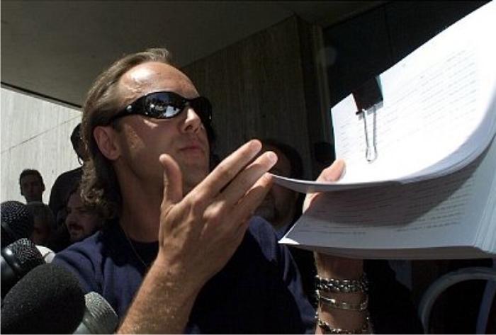 Lars Ulrich en el juicio contra Napster. Foto: Corbis.
