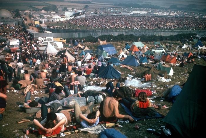 Vista exterior del festival de Wight. Foto: Corbis.