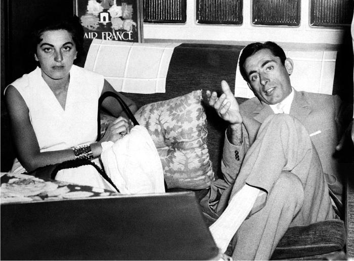 Giulia con Fausto en 1954. Foto: DP.