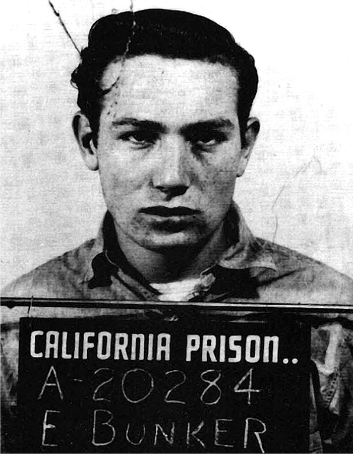 Foto de la ficha policial de Edward Bunker. Foto: California Department of Corrections (DP).