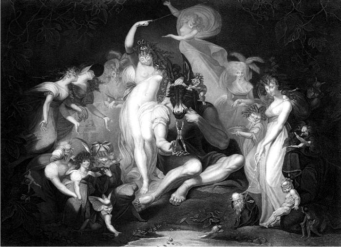 Grabado de una pintura de Henry Fuseli para El sueño de una noche de verano. (DP)