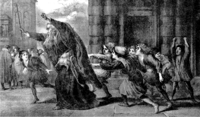 Ilustración para el mercader de Venecia, por Sir John Gilbert. (DP)