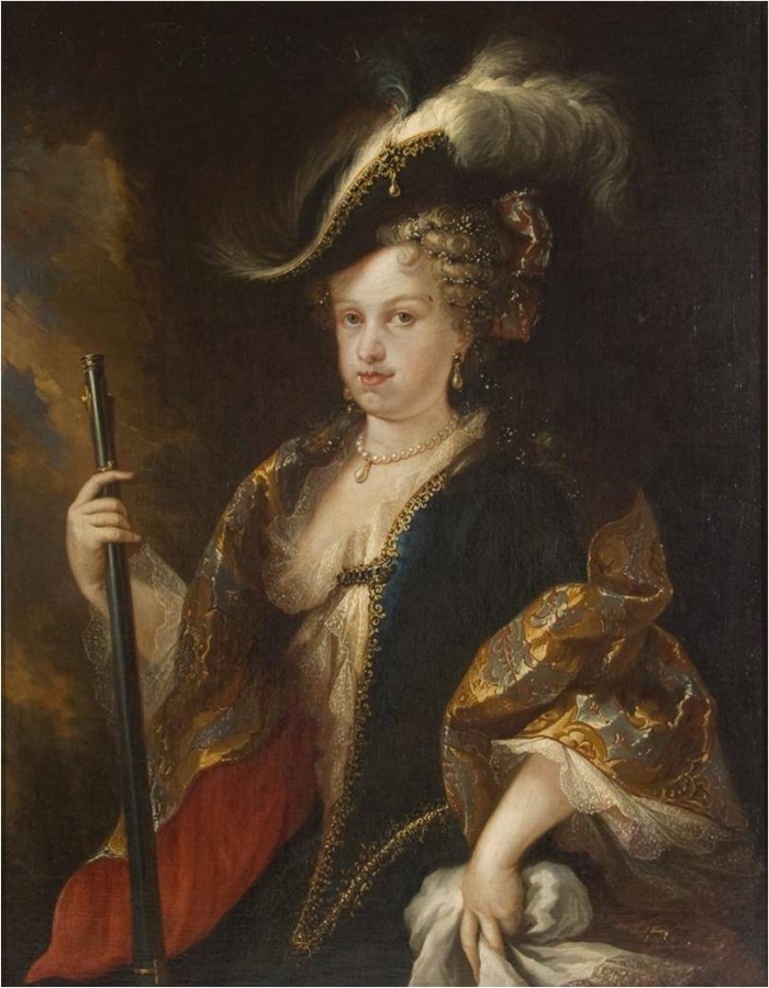 Retrato de la reina María Luisa Gabriela de Saboya, por Miguel Jacinto Meléndez (DP).