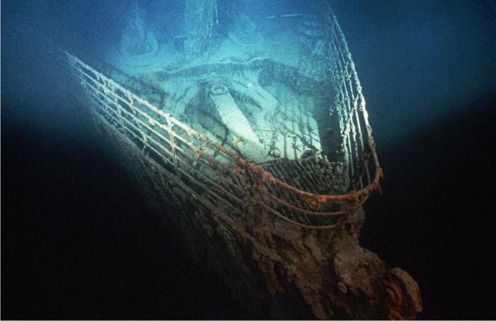 Restos del Titanic. Foto: Corbis.