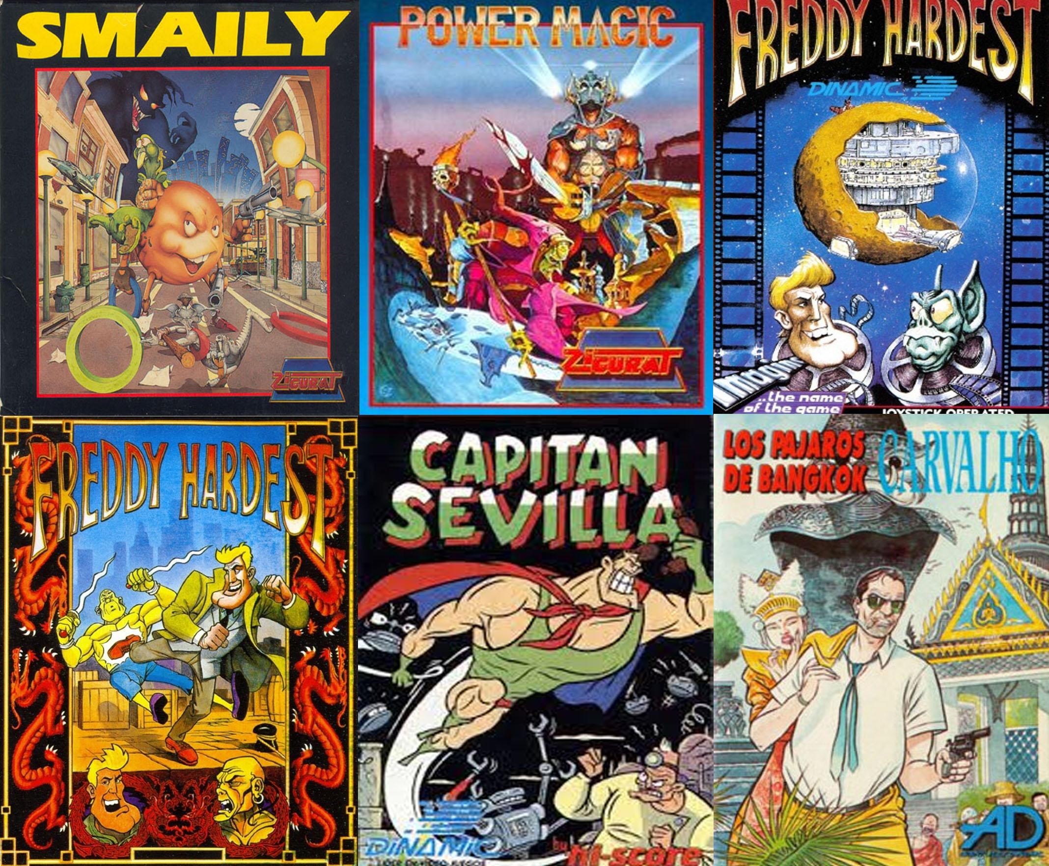 Smaily. Power magic. Freddy Hardest. Freddy Hardest en Manhattan sur. Capitán Sevilla. Los pájaros de Bangkok.