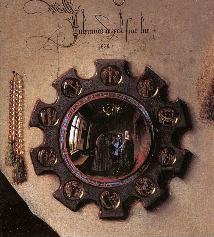 Detalle de El matrimonio Arnolfini, de Jan van Eyck.