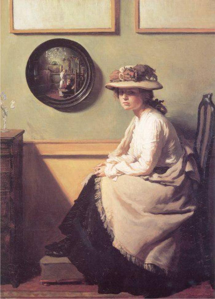 El espejo, de William Orpen.