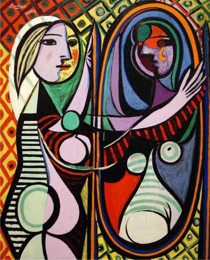 Mujer frente al espejo, de Picasso.