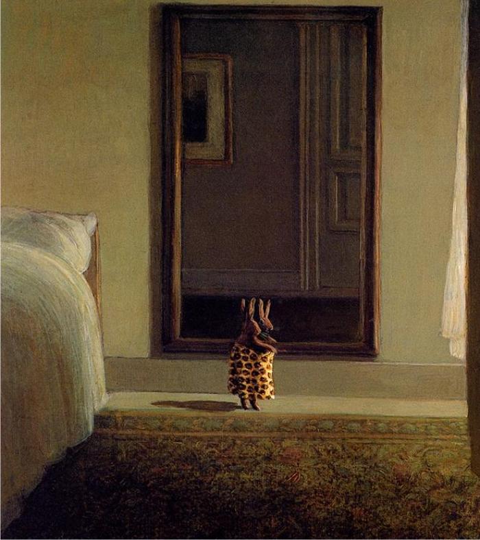 Conejo frente al espejo, de Michael Sowa.