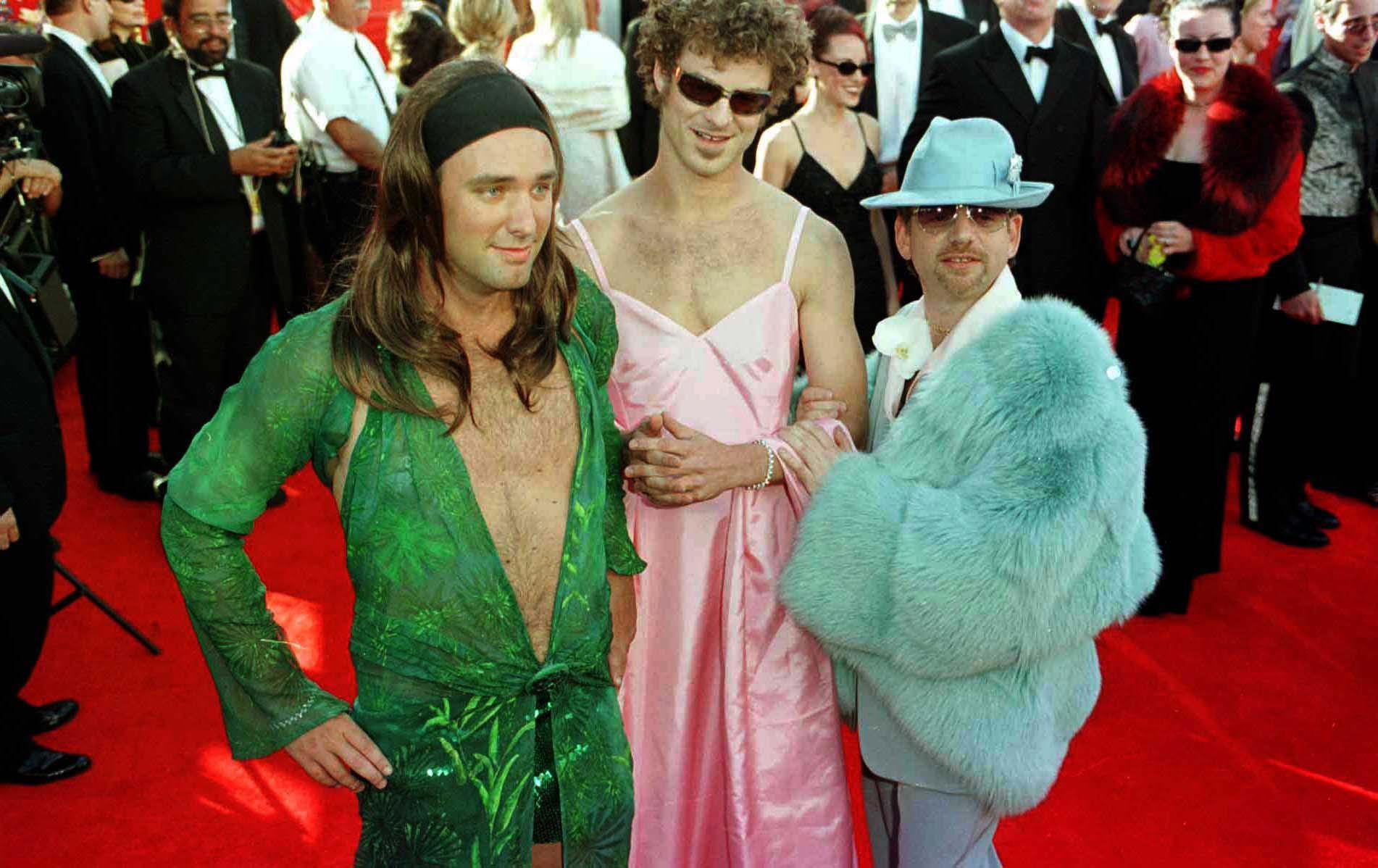 Marc Shalman (right) with South Park creators, Matt Stone (centre) and Trey Parker