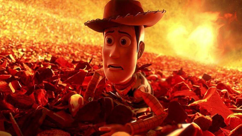 Abandono y desesperación en la cara de Woody; el clásico drama de la ficción Disney.