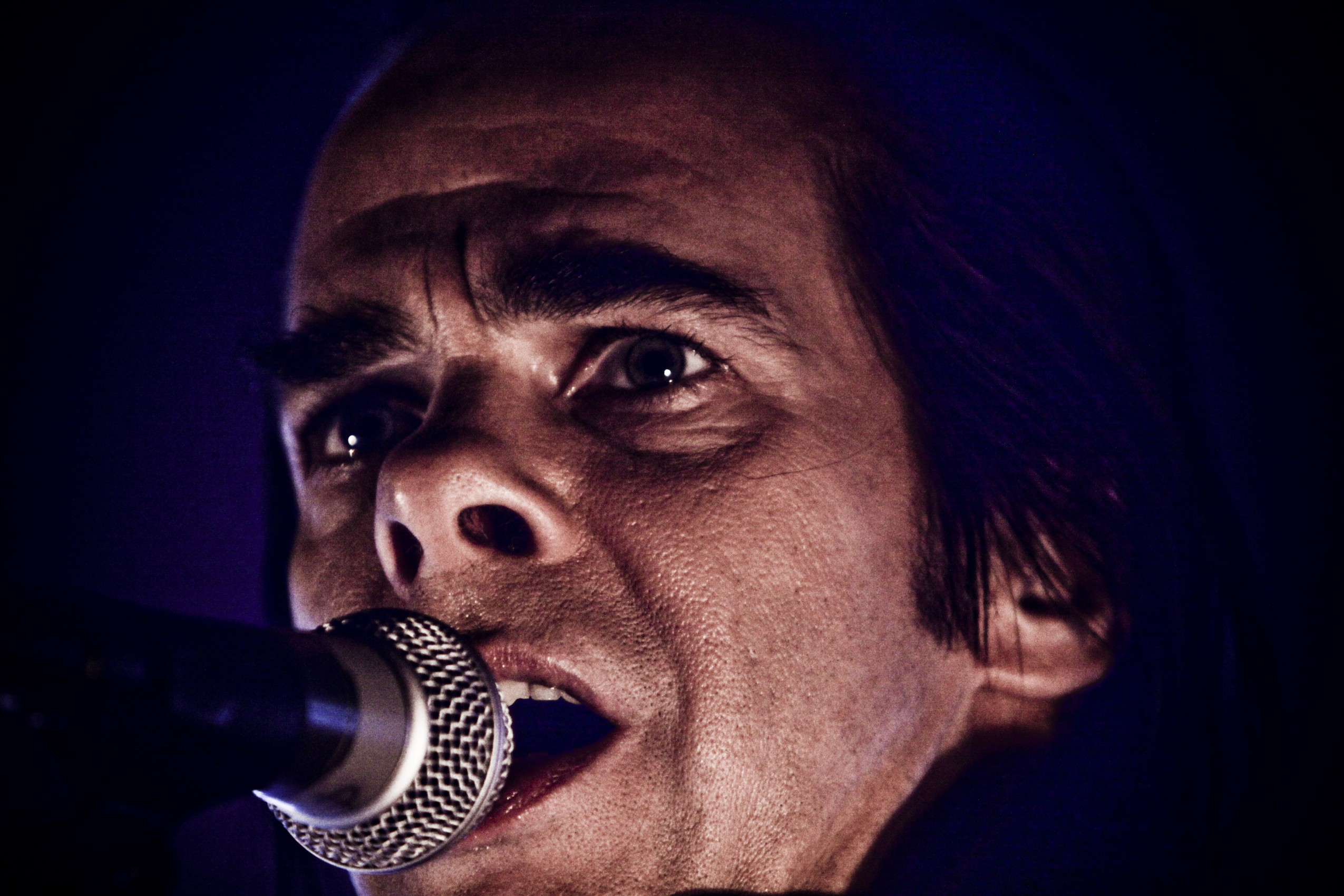 07 Oct 2010, Rome, Italy --- Nick Cave perform in Rome. --- Image by © Simone Cecchetti/Corbis