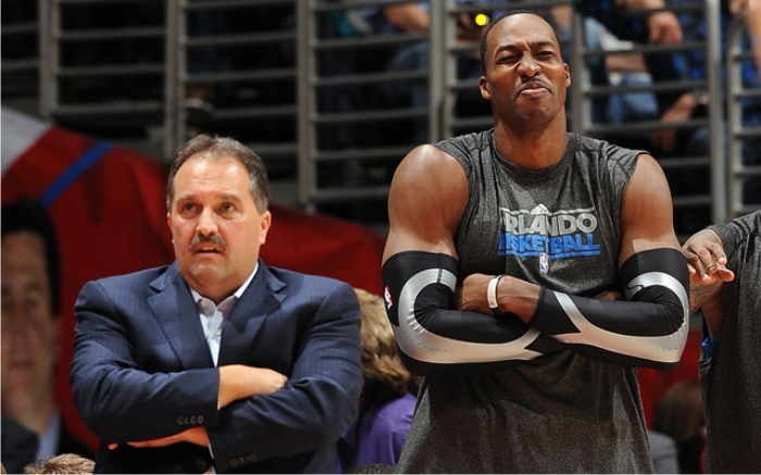 Stan Van Gundy y Dwight Howard en Orlando Magic. Foto cortesía de NBA.