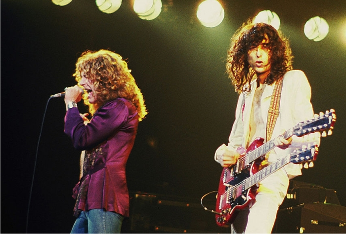 Robert Plant y Jimmy Page. Foto: Jim Summaria (CC).