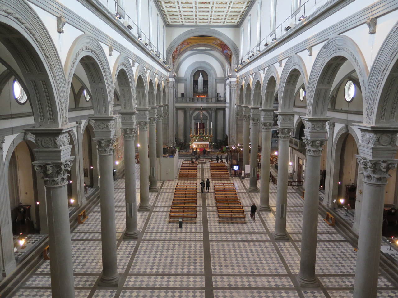 Basílica de San Lorenzo. Fotografía cortesía de la fundación Opera Medicea Laurenziana.
