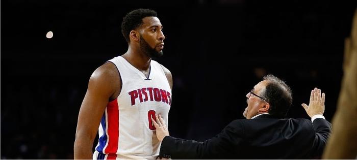 Andre Drummond y Stan Van Gundy. Foto cortesía de NBA.