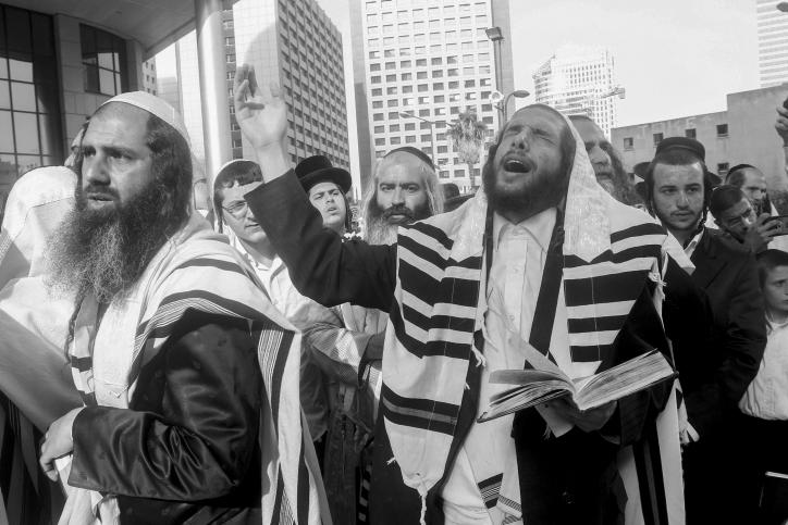 Manifestación de apoyo a Berland frente a la embajada de Sudáfrica en Ramat Gan, cerca de Tel Aviv. Fotografía cortesía de Israel National News.