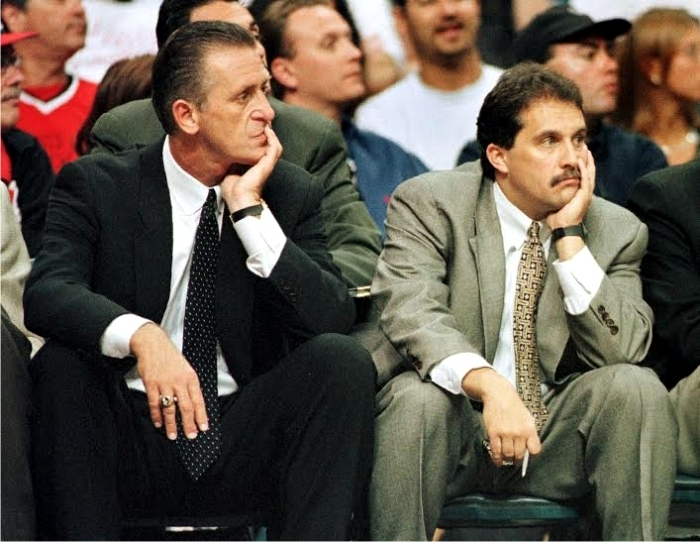 Pat Riley y Stan Van Gundy en Miami Heat. Foto cortesía de NBA.
