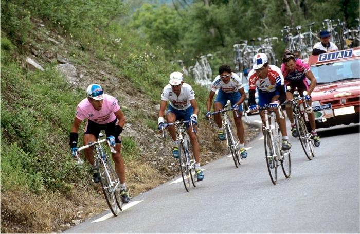 Berzin, Pantani, Chiappucci e Indurain. Foto: Cordon Press.