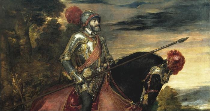 Detalle del cuadro de Tiziano sobre Carlos V. (DP)