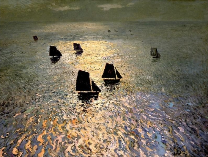 Barcos regresando a casa, de William Frederic Ritschel.