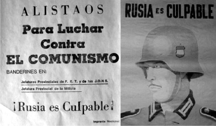Propaganda de la División Azul. (DP)
