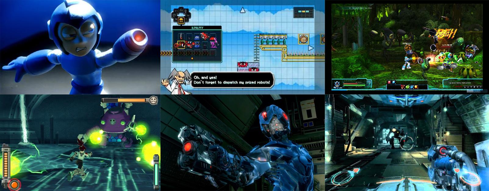 Spot de Mega man universe, Mega man universe, Mega man online, Megaman legends y Maverick hunter.