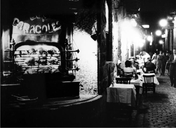 Los Caracoles. Barcelona, 1962. Cortesía de herederas de Xavier Miserachs.
