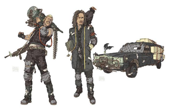 Concept art del videojuego inspirado en Metallica.