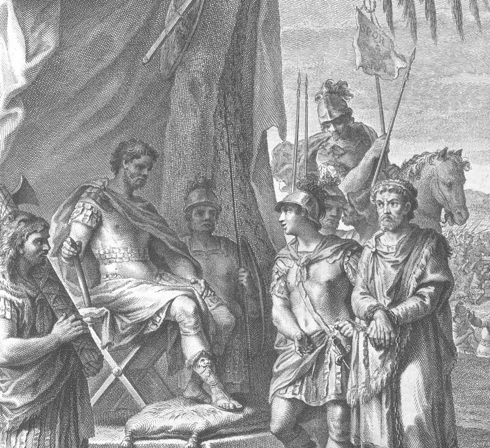 Detalle de La captura de Jugurta, ilustración extraída de La conjuración de Catilina y la Guerra de Jugurta por Cayo Salustio Crispo, 1772. Imagen: DP.