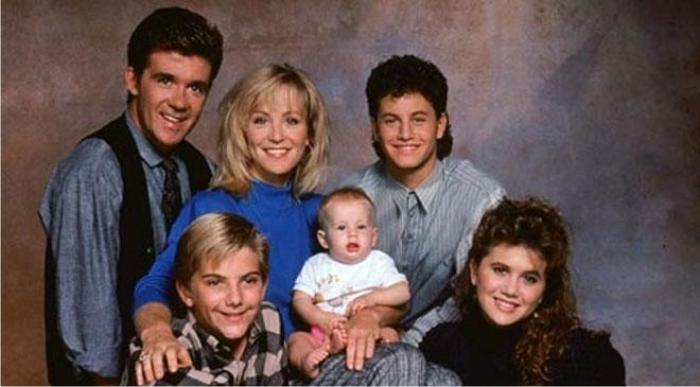 La sagrada familia. Lo más transgresor de Los problemas crecen era el mullet de Kirk Cameron. Imagen: ABC.