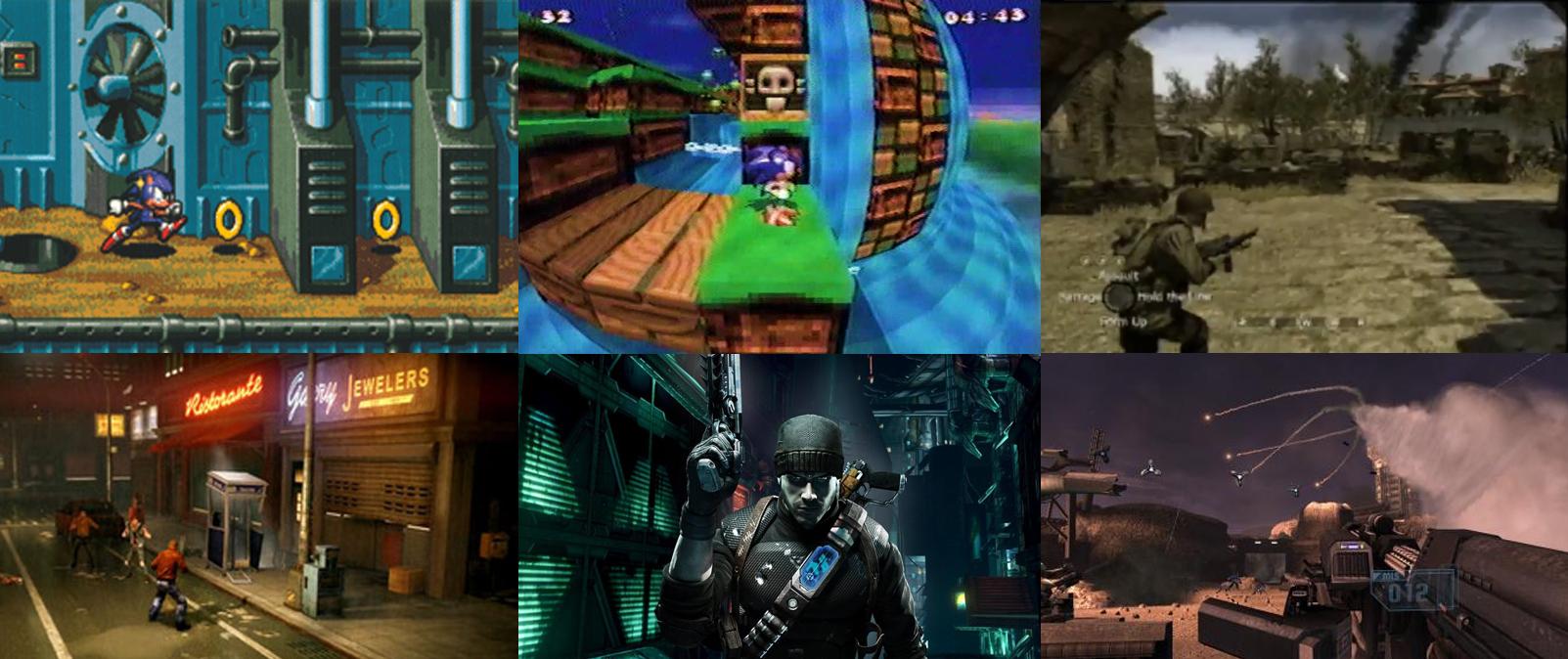 Sonic-16, Sonic X-treme, CoD: Vietnam, Streets of rage, Prey 2, Tiberium.