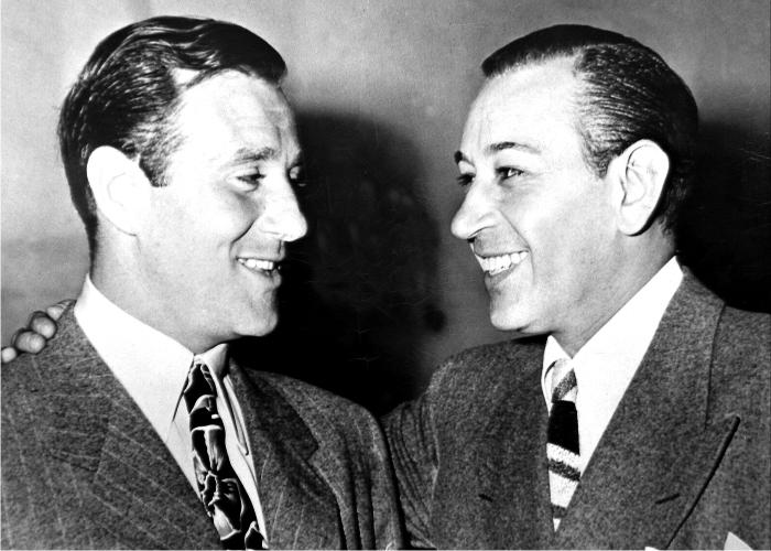 Bugsy Siegel con George Raft. Foto: Cordon.