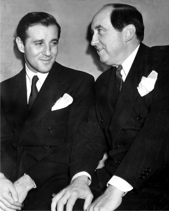 Bugsy Siegel con Jerry Giesler. Foto: Cordon.