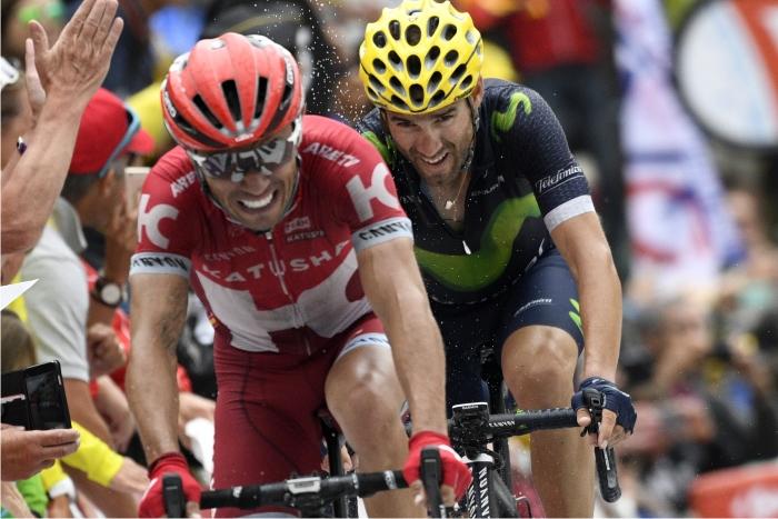 Joaquim Rodriguez y Alejandro Valverde. Foto: Cordon.
