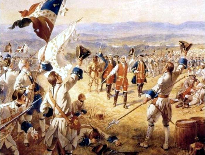 La batalla de Carillon en la guerra de los Siete Años, por Henry Alexander Ogden. (DP)